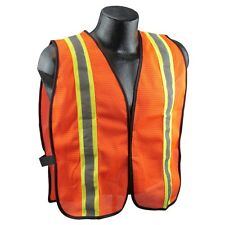 Two-tone Orange Mesh Safety Vest with Reflective Stripes