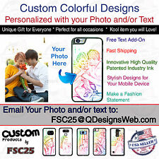 Custom Colorful Phone Case Cover Personalized Photo for LG Samsung iPhone HTC