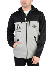 Adidas Mens Neighborhood Zipup Hoodie Black