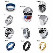 New Elfasio Men's Woman's Stainless Steel Ring Band Fashion Jewelry Size 7 - 13