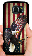 AMERICAN EAGLE FLAG PHONE CASE COVER FOR SAMSUNG NOTE GALAXY 3 S4 S5 S6 S7 S8 S9