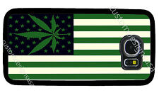 WEED MARIJUANA FLAG PHONE CASE COVER FOR SAMSUNG NOTE GALAXY S4 S5 S6 S7 S8 S9 +
