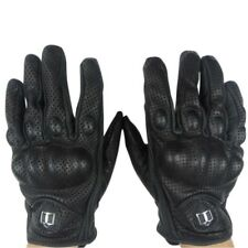 Leather Glove Full Finger Mens Motorcycle Bicycle Riding Racing Protective Armor