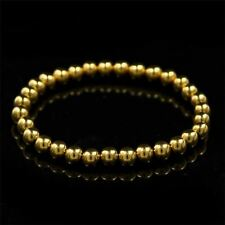 Stainless steel Stretchable Round Beads Gold Black Color Bracelets For Women