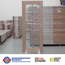 10 LITE Clear Glass French Solid Timber Doors Hardwood Pantry Sliding or Hinged