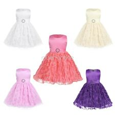 Floral Girls Birthday Infant Baby Pageant Party Formal Princess Bow Rose Dresses