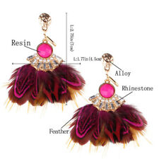 Feather Earrings Exaggeration Ladies Exquisite Tassel Bohemia Jewelry 1Pair