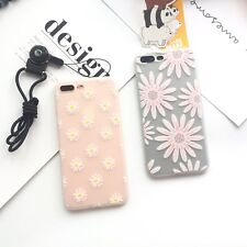 DAISY FLOWERS FLORAL CLEAR SOFT TPU SILICON CASE+HANG ROPE FOR IPHONE 6S 7 PLUS