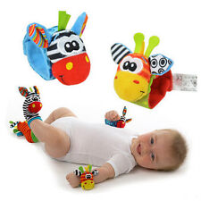 Infant Baby Kids Cute Animal Wrist Foot Sock Rattles Soft Developmental Toys new