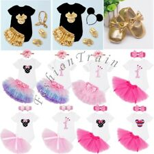 Baby Girl Minnie Mouse Romper T-Shirt Outfit Top Pants Tutu Skirt Clothes 0-12M