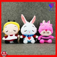 "8"" Disney Alice in Wonderland Rabbit Cheshire Plush Soft Doll Stuffed Kids Toy"