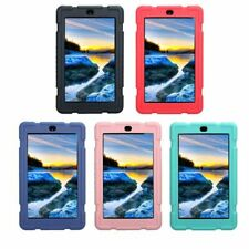 For 7inch Amazon Kindle Fire 7 2017 Tablet,Shockproof Soft Silicone Case Cover