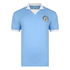 Official Retro Manchester City 1976 Retro Football Shirt 100% COTTON