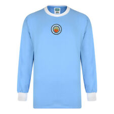 Official Retro Manchester City 1970 Long Sleeve Retro Shirt 100% COTTON