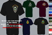 UNITS D TO I EMBROIDERED REGIMENTAL ARMY ROYAL NAVY AIR FORCE MARINES T SHIRT