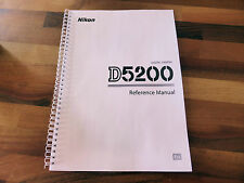 ~PRINTED~ Nikon D5200 User guide Instruction manual  A4 or handy A5