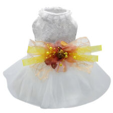 Cat Dog Tutu Dress Skirt Lace Pet Shirt Harness Dog Clothes for Poodle Chihuahua