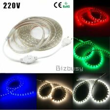 1m-20m Waterproof SMD 5050 LED Strip 220V 60leds/M Flexible LED tape rope Light