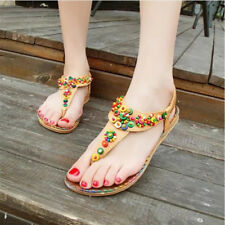 1 Pair New Bohemian Style Summer Women Shoes Fashion Womens Sandals Flat Heel