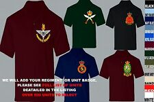 UNITS D TO I EMBROIDERED REGIMENTAL ARMY ROYAL NAVY AIR FORCE MARINES POLO SHIRT