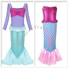 Kids Mermaid Little Girls Princess Childrens Fancy Dress Party Holiday Costume