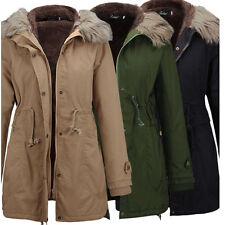 Hot Ladies Womens Jacket Hooded Winter Quilted Coat Size S-XXL OUTWEAR UK