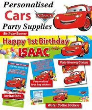 Cars Lightning McQueen Birthday Party Banner Decorations