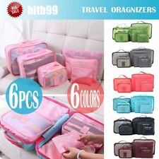6X Waterproof Travel Storage Bag Clothes Packing Cube Luggage Organizer Pouch A5