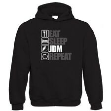 Eat Sleep JDM Repeat Hoodie - AE86 hachi-roku civik ek9 S14 Skyline Evo WRX STi