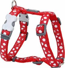 Red Dingo Spot Design Harness RED for Dog / Puppy | XS - LG | FREE P&P