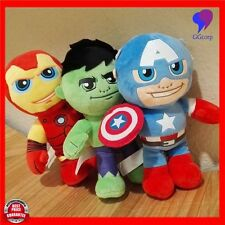 9'' Cute Plush Toy Avengers Hulk Plush Dolls Superheros Stuffed Dolls Children