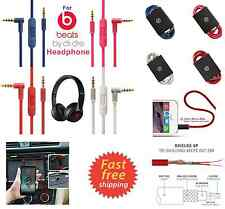 Beats By Dre Headphones Cable Wire Cord For AUX w Mic HD Audio Color Replacement