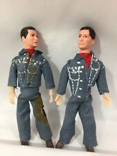 VTG Miniature Male Cowboy Hard Plastic Doll Figurines Crooked Leg Cowboy RARE