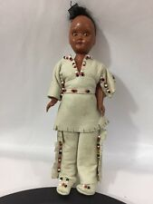 Vintage PMA Doll American Indian Native Plastic Molded Arts Leather Beads RARE