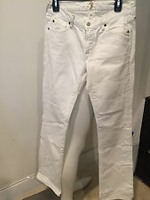 SEVEN FOR ALL MANKIND WHITE JEANS  BOOTCUT PANTS, SIZE 28!!! FARNASS