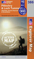 Pitlochry and Loch Tummel- OS Explorer ACTIVE Map 386(NEW 2007 folded sheet map)