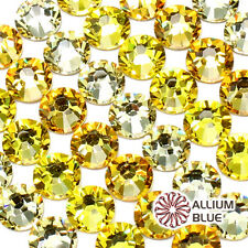 SWAROVSKI 2058 Crystal Round Flatback Rhinestone SS5-SS34 YELLOW& BROWN Mix