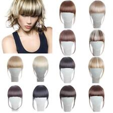 AISI Synthetic Hair Fringe Bang Hairpiece Clip-In Front Hair Extension Straight