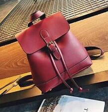 Women Solid Pattern Pu Leather Simple Soft Handle Fashion Backpack