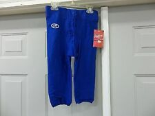 RAWLINGS SLOTTED YOUTH BOYS FOOTBALL GAME PANTS F2540 ROYAL BLUE XS M L XL NEW
