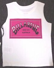 Boy's Billabong Retro White Tank - Muscle Tee. Size 4. NWT, RRP $29.99.