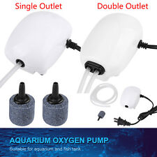 220V 1/2 Outlet Air Oxygen Pump Fish Tank Aquarium Water Pump Air Stone Pipe New