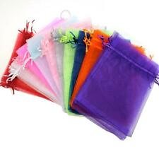 25/50/100PCS Organza Wedding Party Favor Gift Bags Jewelry Pouches Sheer Bags