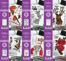 Crafters Companion A6 August Christmas Collection Rubber Stamps