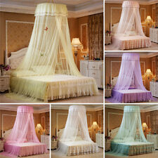 Elegant Canopy Princess Round Lace Bed Mosquito Netting Mesh Dome Bedding Net