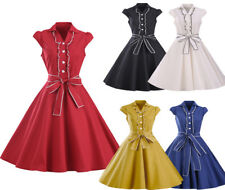 Women Vintage Rockabilly Dress Cocktail Party 1950's Hepburn Style Dress S-4XL