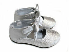 Baby Deer Silver Ankle Strap Girls Mary Jane Shoes Toddler  8 9 10 NIB