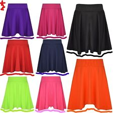 Girls Skater Skirts School Fashion Plain Skirts New Age 7-13 Years HUGE SALE!!!