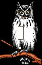 Tree Owl on a Branch - Decorative Decoupage Light Switch Covers - Made to Order