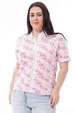 Open Neck Patterned T-Shirt Avilable in Plus Sizes